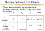 simplex no formato de tableau8