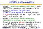 simplex passo a passo