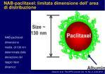 nab paclitaxel limitata dimensione dell area di distribuzione