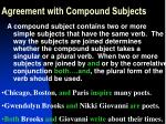 agreement with compound subjects