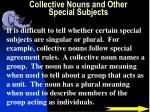 collective nouns and other special subjects