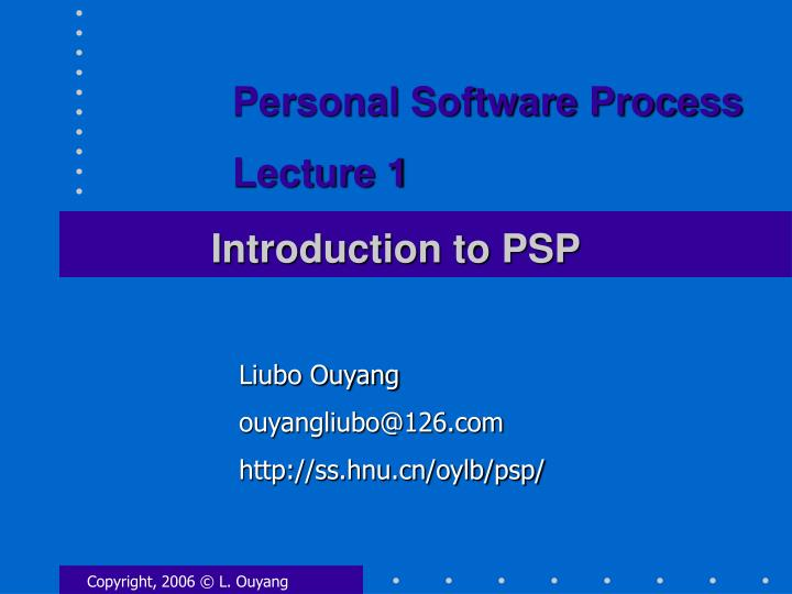introduction to psp n.