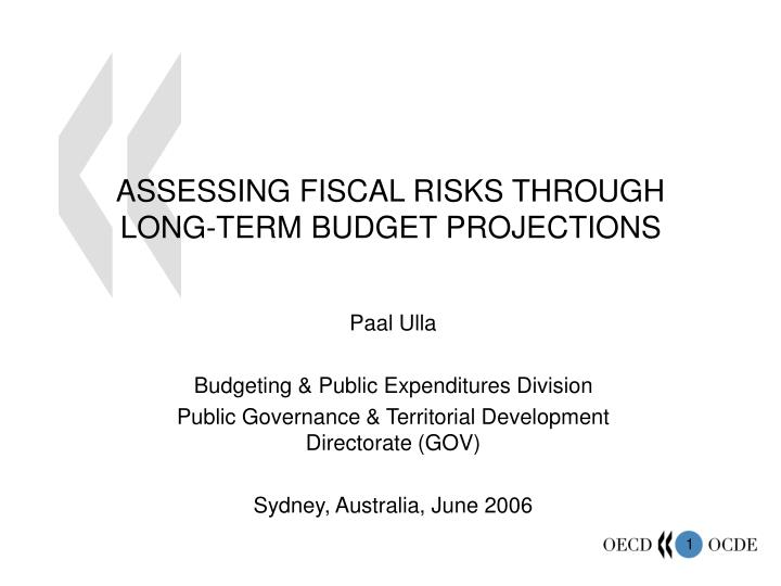 assessing fiscal risks through long term budget projections n.
