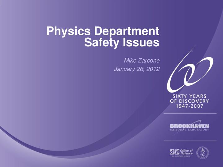 physics department safety issues n.