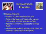 interventions education
