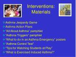 interventions materials