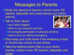 messages to parents