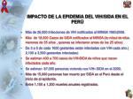 impacto de la epidemia del vih sida en el per