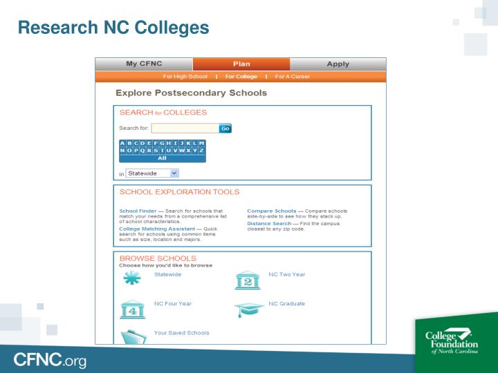 Research NC Colleges