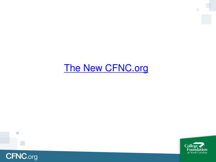 The New CFNC.org