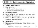 codi ii sub committee statistics