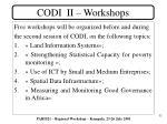 codi ii workshops