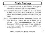 main findings6
