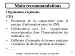 main recommandations7