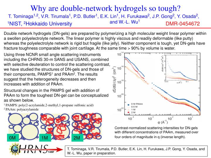 why are double network hydrogels so tough n.
