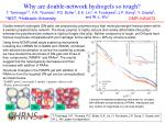 why are double network hydrogels so tough