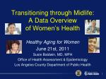 transitioning through midlife a data overview of women s health