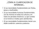 etapa iii clarificacion de intereses3