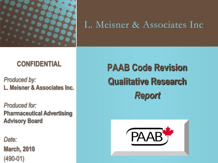 paab code revision qualitative research report n.