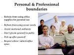 personal professional boundaries
