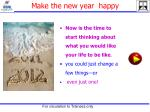 make the new year happy
