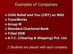 examples of companies