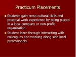 practicum placements