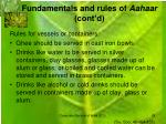 fundamentals and rules of aahaar cont d