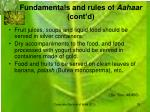 fundamentals and rules of aahaar cont d1