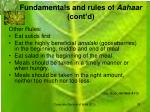 fundamentals and rules of aahaar cont d10