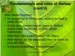 fundamentals and rules of aahaar cont d12