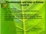 fundamentals and rules of aahaar cont d2
