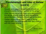 fundamentals and rules of aahaar cont d4