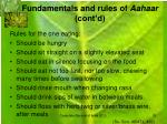 fundamentals and rules of aahaar cont d5