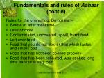 fundamentals and rules of aahaar cont d6