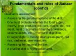 fundamentals and rules of aahaar cont d8