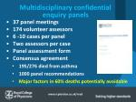 multidisciplinary confidential enquiry panels