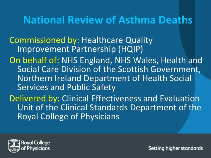 National review of asthma deaths