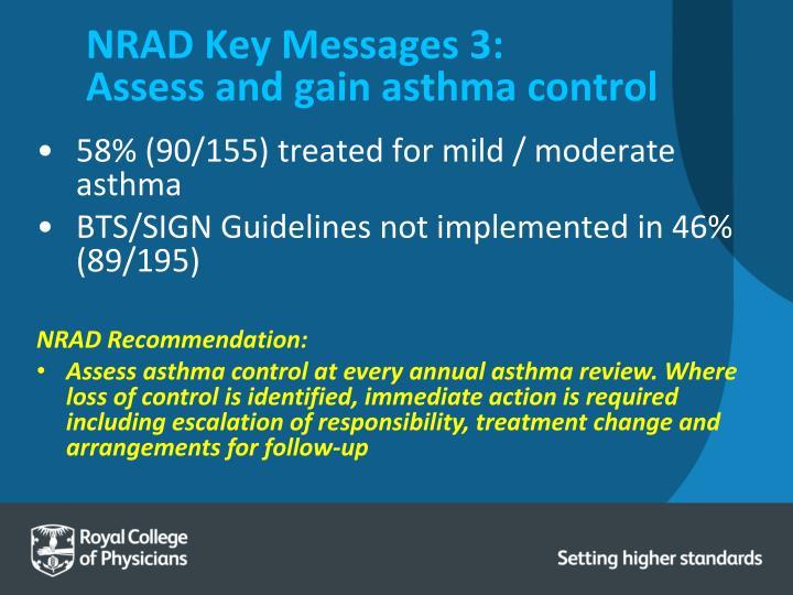 NRAD Key Messages 3: