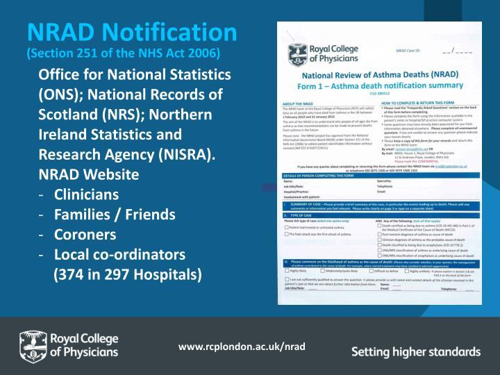 NRAD Notification
