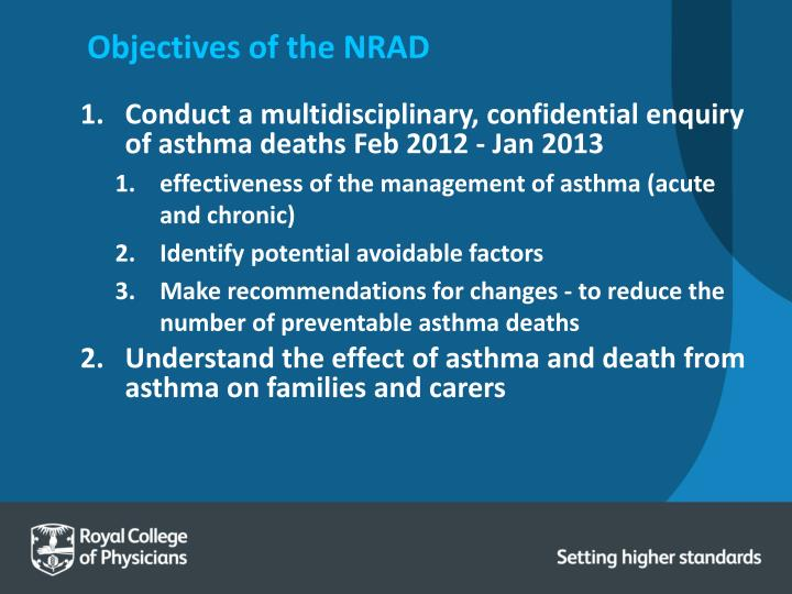 Objectives of the NRAD