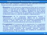 implementaci n estructura organizativa