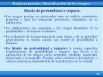 implementaci n identificaci n de los riesgos11
