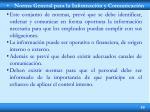 norma general para la informaci n y comunicaci n