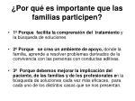 por qu es importante que las familias participen