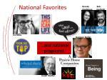 national favorites