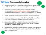 offline renewal leader