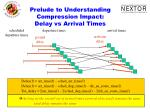 prelude to understanding compression impact delay vs arrival times
