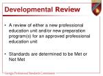 developmental review