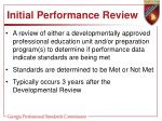 initial performance review